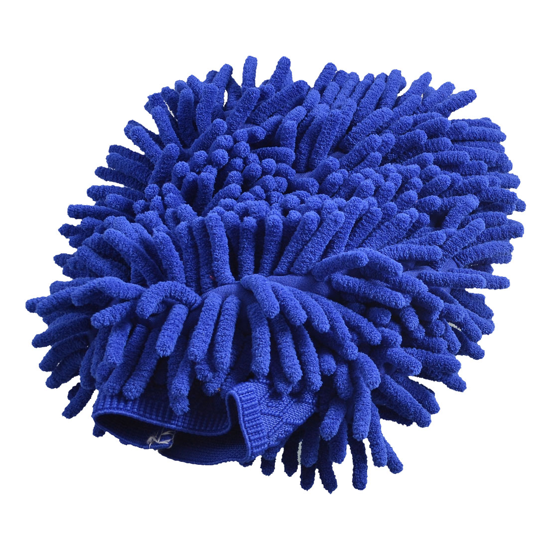 Car Royal Blue Microfiber Chenille Mitten Washing Cleaning Glove 23cm x 15cm
