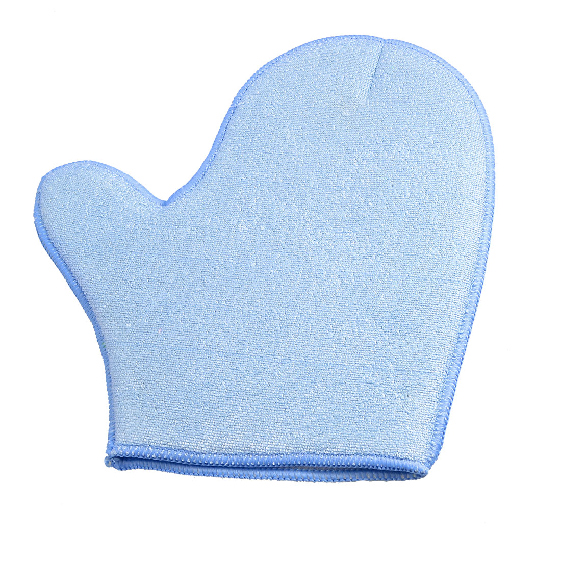 Auto Car Double Side Microfiber Washing Glove Mitt Light Blue