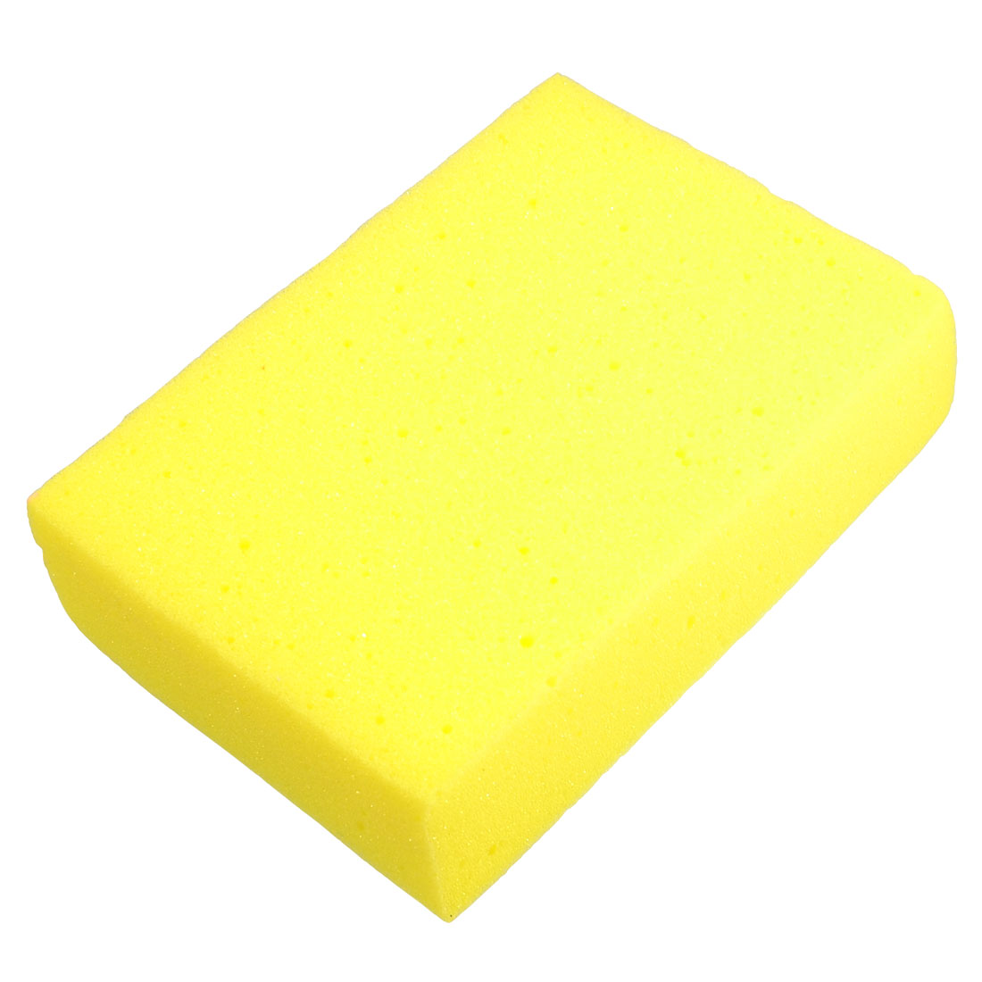 Rectangular 16.5x11.5x4.5cm Yellow Cleaning Sponge for Car Auto