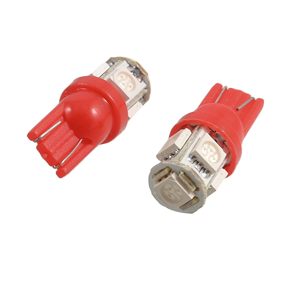 2 x T10 194 168 W5W 5050 SMD 5 LED Car Side Marker Light Bulb Lamp Red 12V