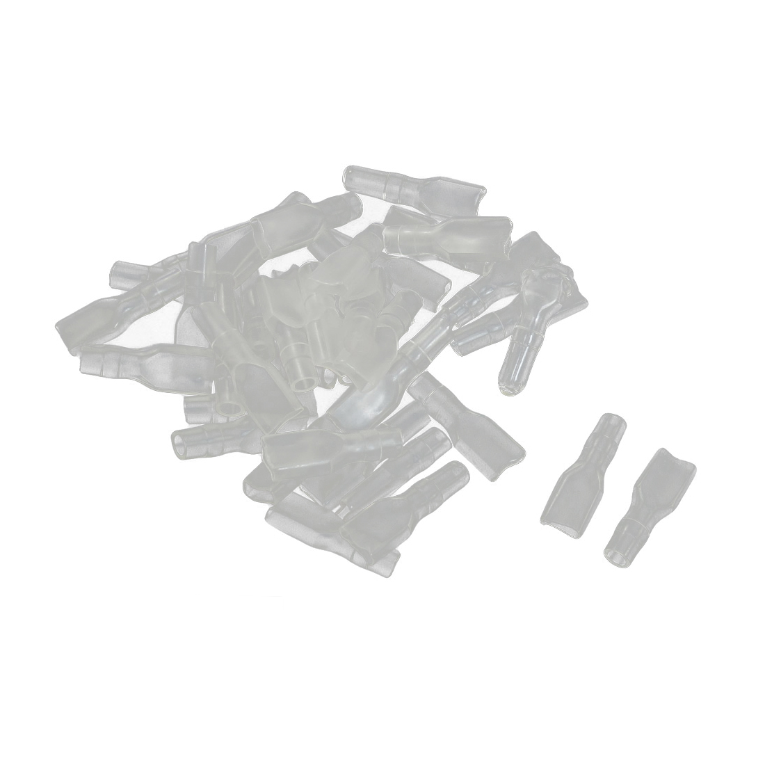 40 Pcs 4.8mm Hole Clear PVC Insulated Ring Terminal Caps Boots Covers