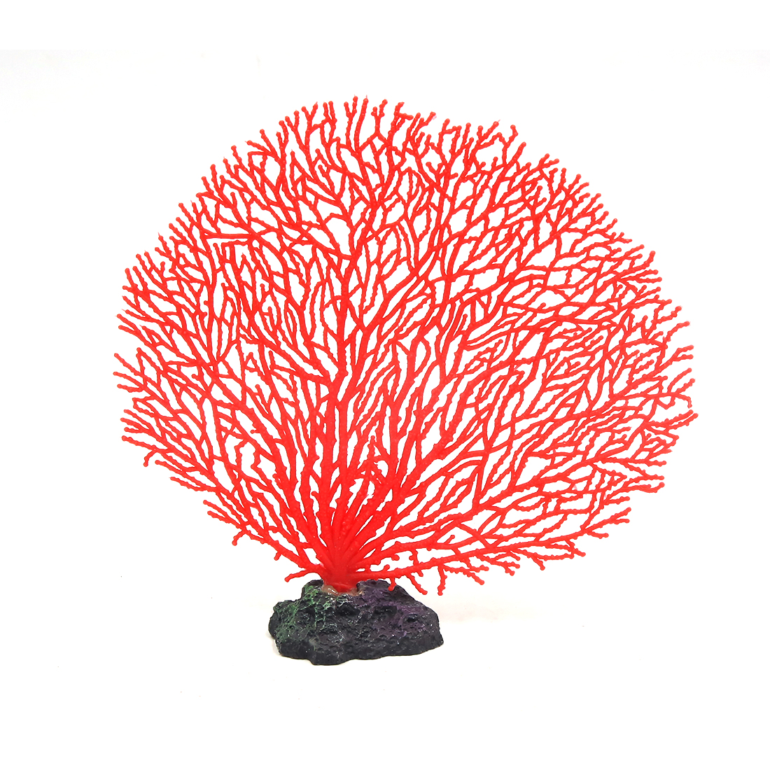 "5.5"" Height Red Soft Plastic Branch Coral Emulational Underwater Plant Decor"