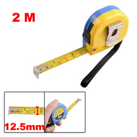 2M 6Ft Retractable Metric English Ruler Tape Carpenter Measuring Tool