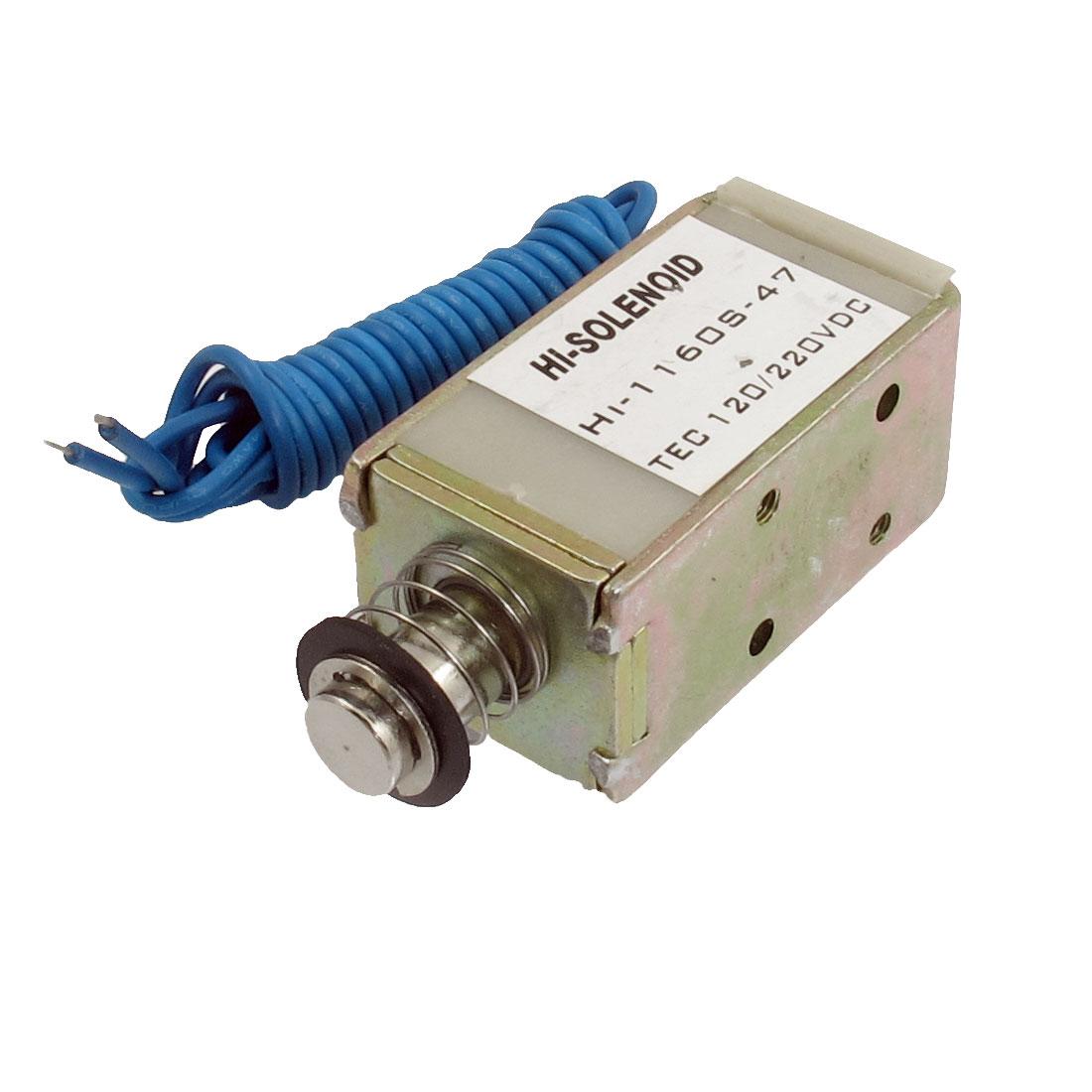 DC 220V 4.68A 16000GF 10mm Push Type Solenoid Electromagnet
