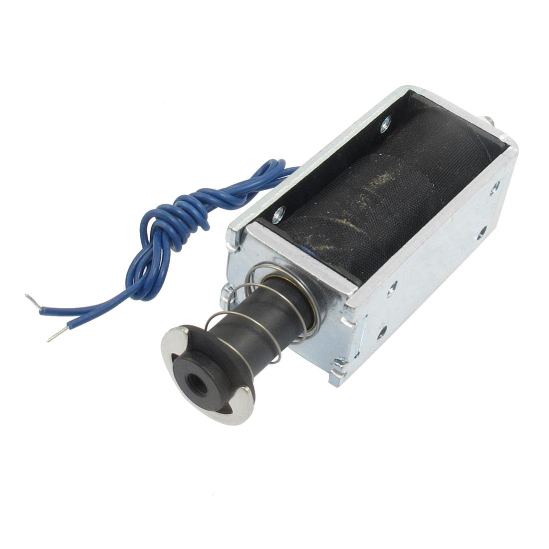 Spring DC 12V 1.5A 3000GF/0mm 500GF/5mm Push Type Solenoid Electromagnet