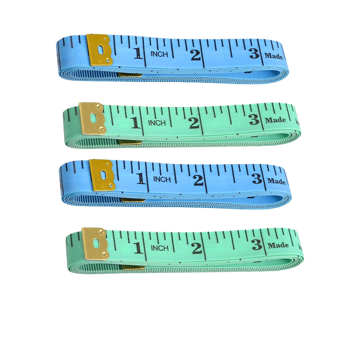 4 Pcs 1.5M 60 inch Sewing Tailor Diet Measuring Tape Measure Blue Green