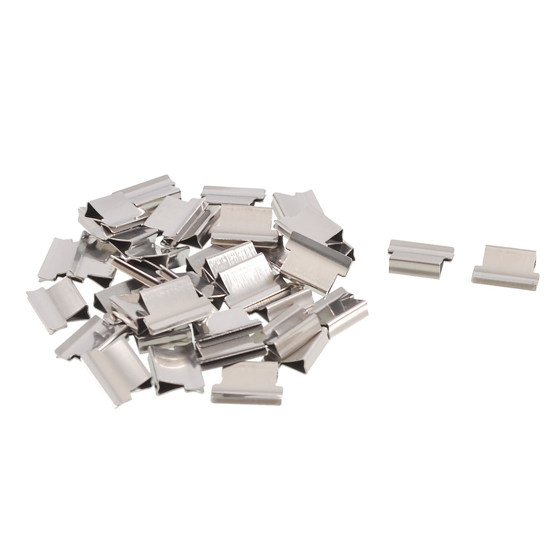 40 Pcs 13x9x4mm Paper Sheet Fastener Clip Dispenser Clips