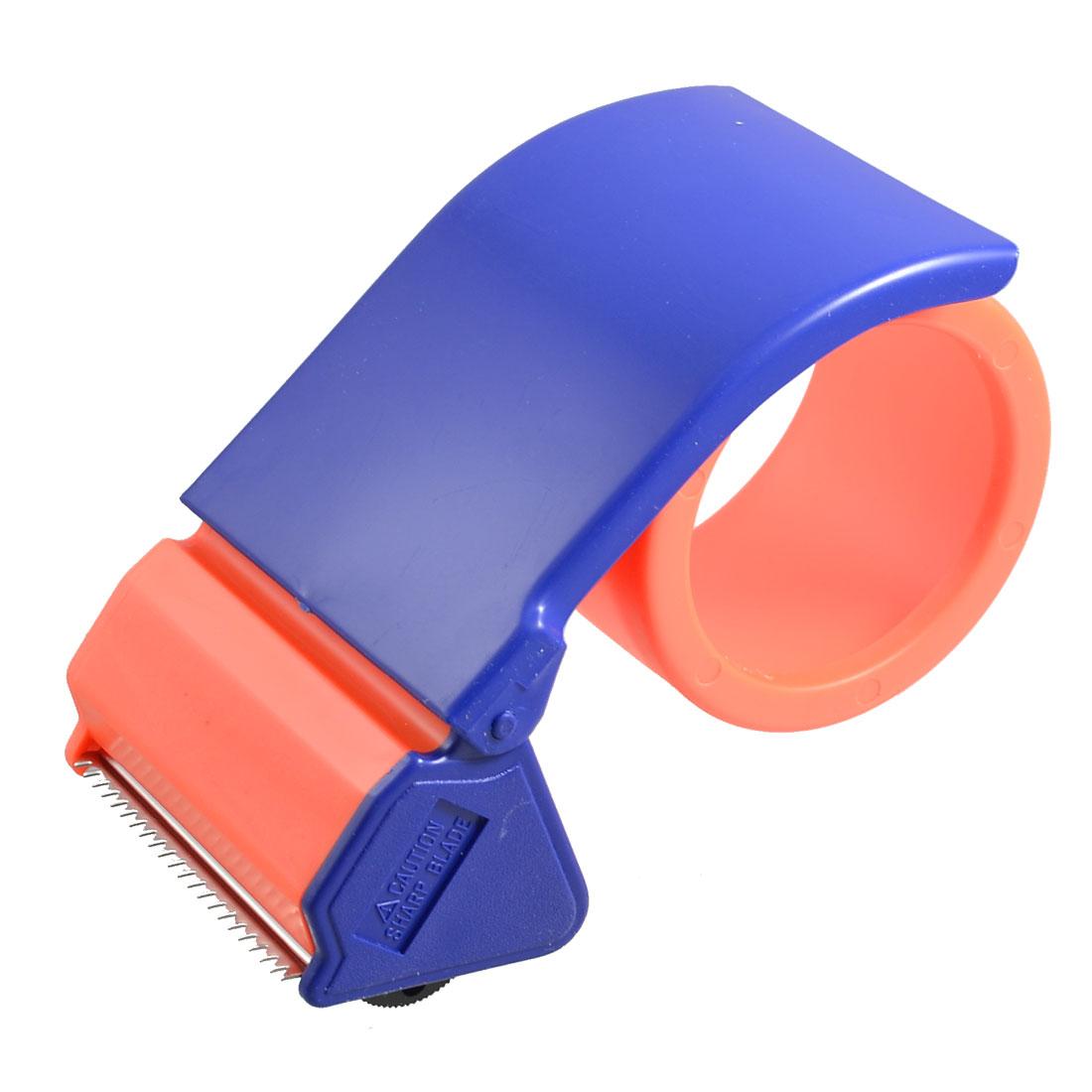 Orange Plastic Roller Sealing Parcel 2.5 inch Wide Tape Cutter Dispenser