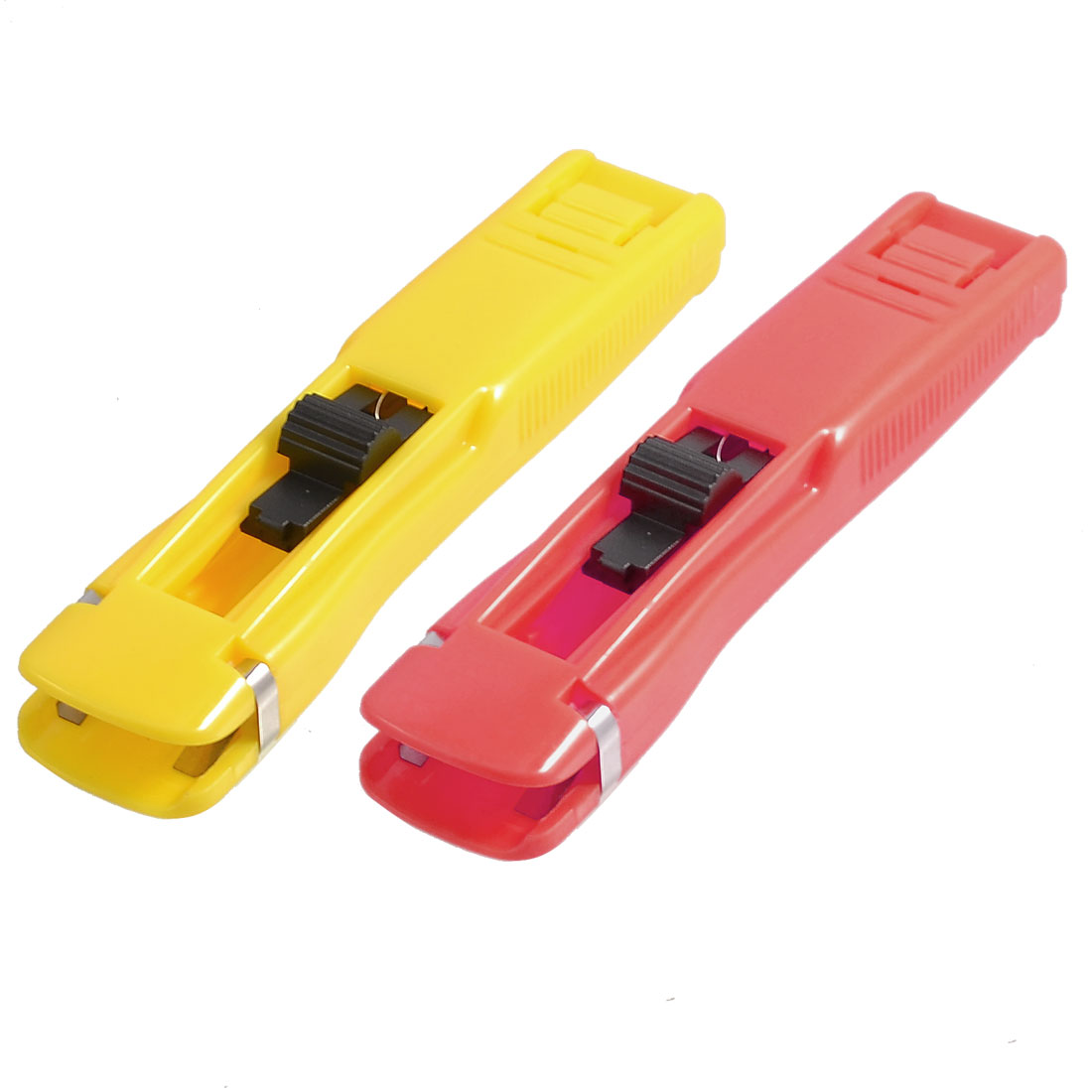 2 Pcs Yellow Red Plastic Zip Gun Tool Clip Dispenser for Quilting Sewing