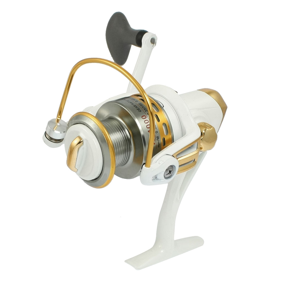 Offwhite Gold Tone Gear Ratio 5.5:1 3-Ball Bearings Fishing Spinning Reel AF4000
