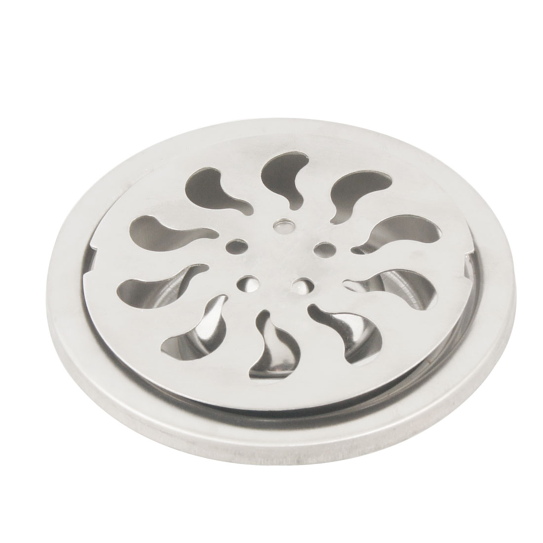 "Bathroom 3"" Silver Tone Stainless Steel Round Sink Floor Drain"