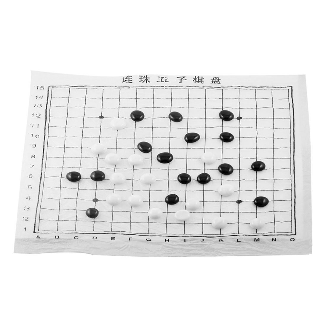 Clear Green Oval Shaped Plastic Box Five in a Row Game Gobang Set