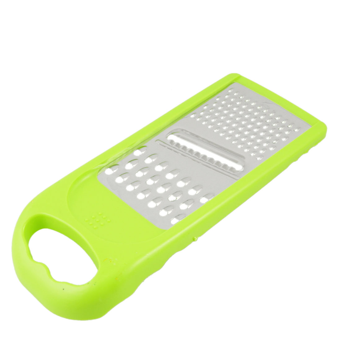 Home Yellow Plastic Frame 4 Side Vegetable Peeler Cheese Fruit Graters