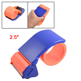 "Package Parcel Handheld 2.5"" Adhesive Tape Dispenser Cutter Orange Blue"