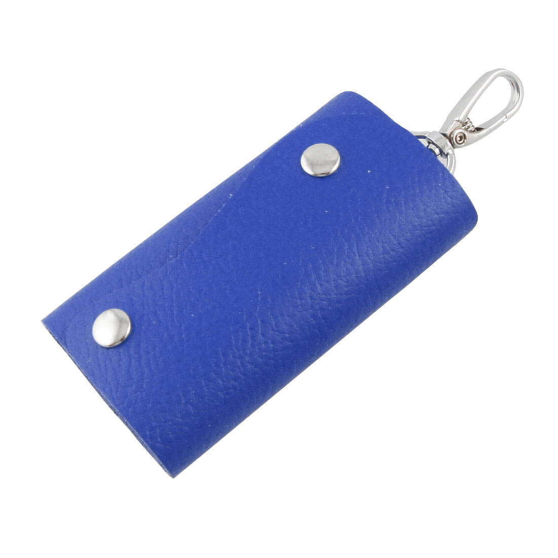 Royal Blue Faux Leather 5 Hooks Car Keys Bag Holder Organizer