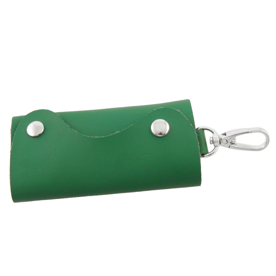 Green Faux Leather 5 Hooks Folding Key Organizer Holder
