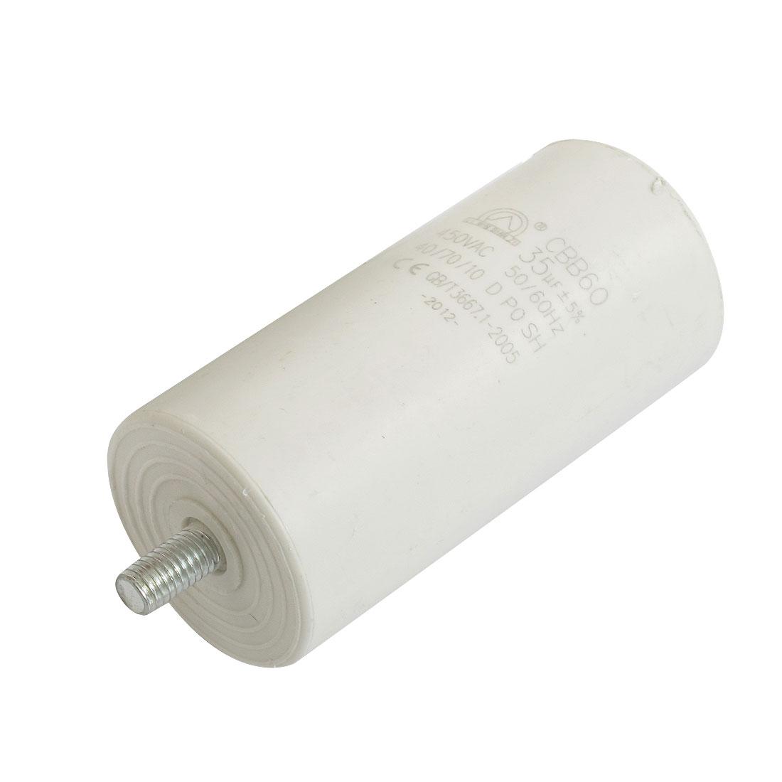 CBB60 White Plastic Shell AC 450V 50/60Hz 35uF Motor Polypropylene Capacitor