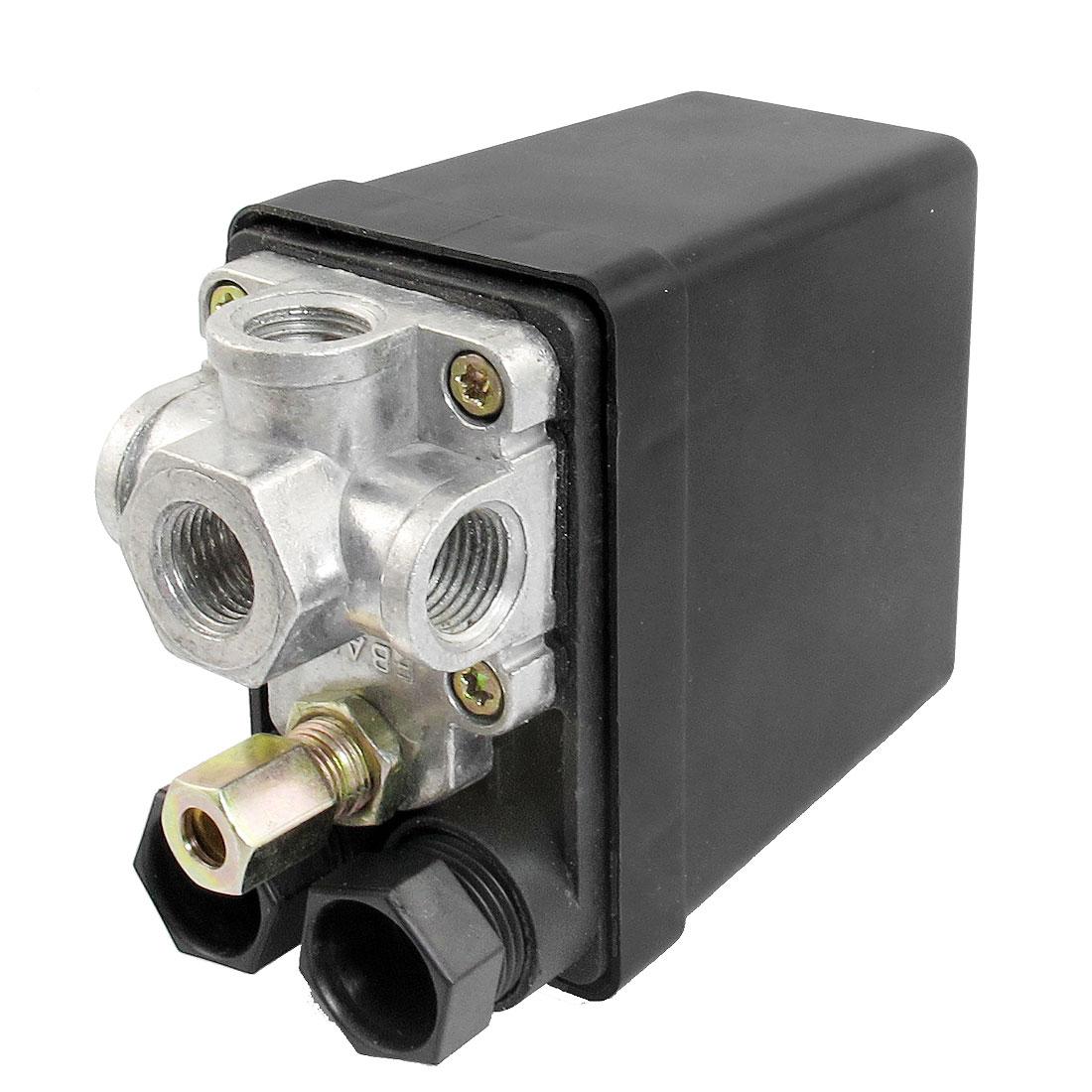 AC 240V 15A 175PSI 12 Bar 4 Port Air Compressor Pressure Switch Control Valve