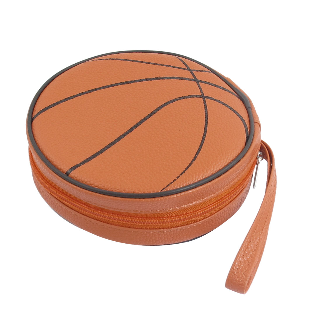 Orange Basketball Style 24 Capacity CD DVD Round Wallet Case Holder
