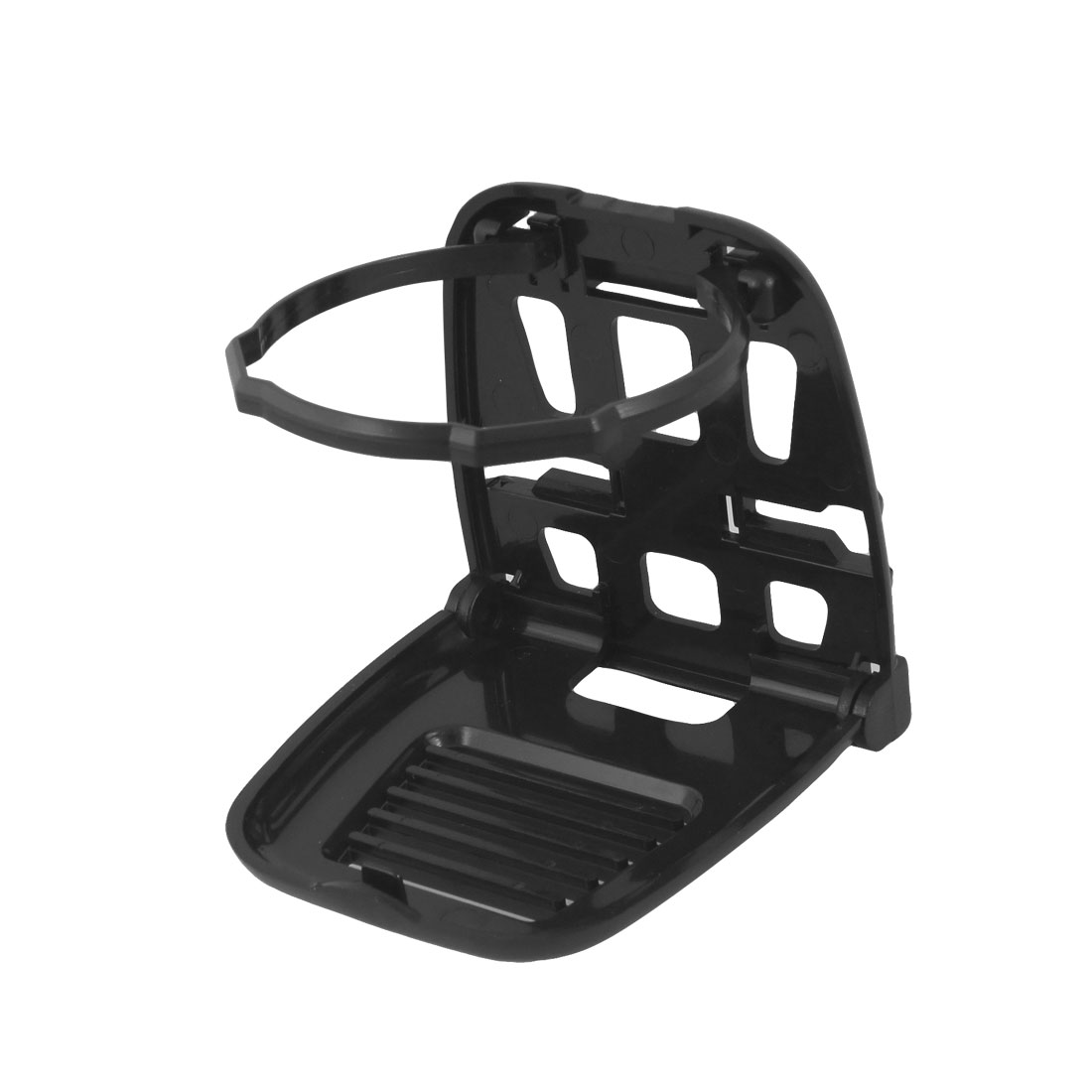 Black Plastic Foldable Drink Bottle Cup Holder Stand for Auto Car