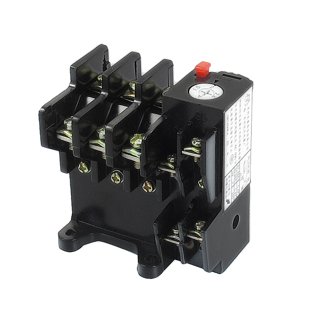 JR36-20 2.4Amp 1.5A-2.4A Adjustable 3 Pole Thermal Overload Relay 1NO 1NC