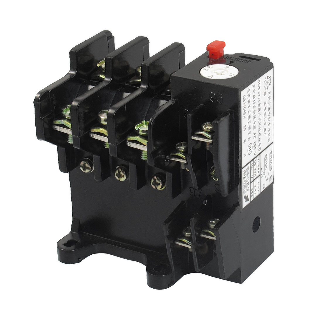 JR36-20 11Amp 6.8A-11A Adjustable 3 Pole Thermal Overload Relay 1NO 1NC