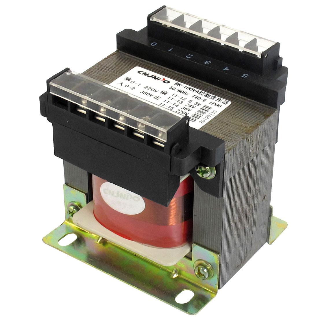 100VA Capacity Electric Input AC 220V 380V Voltage Controlling Transformer