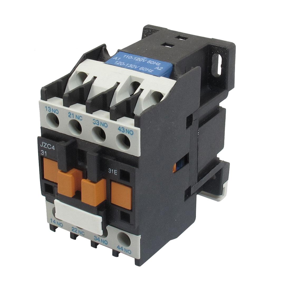 JZC4-31 110-130V 50/60Hz Coil 20A 3P Three Pole 3NO 1NC AC Contactor