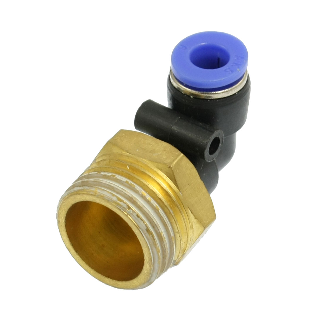 20mm Male Thread to 6mm Push in Joint Pneumatic Elbow Connector Quick Fitting