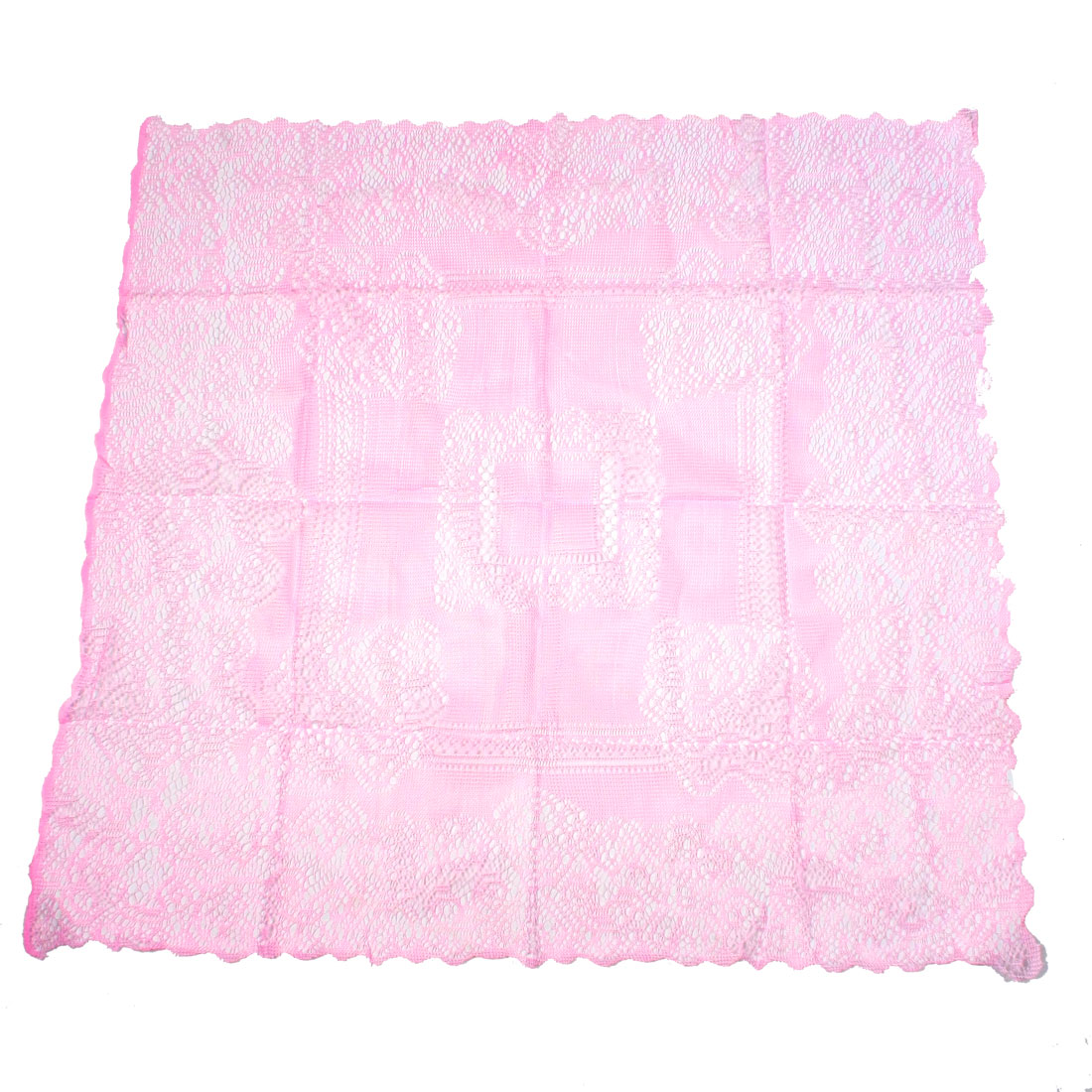 Home Rectangular Pink Nylon TV Cover Meshy Cloth 85cm x 76cm