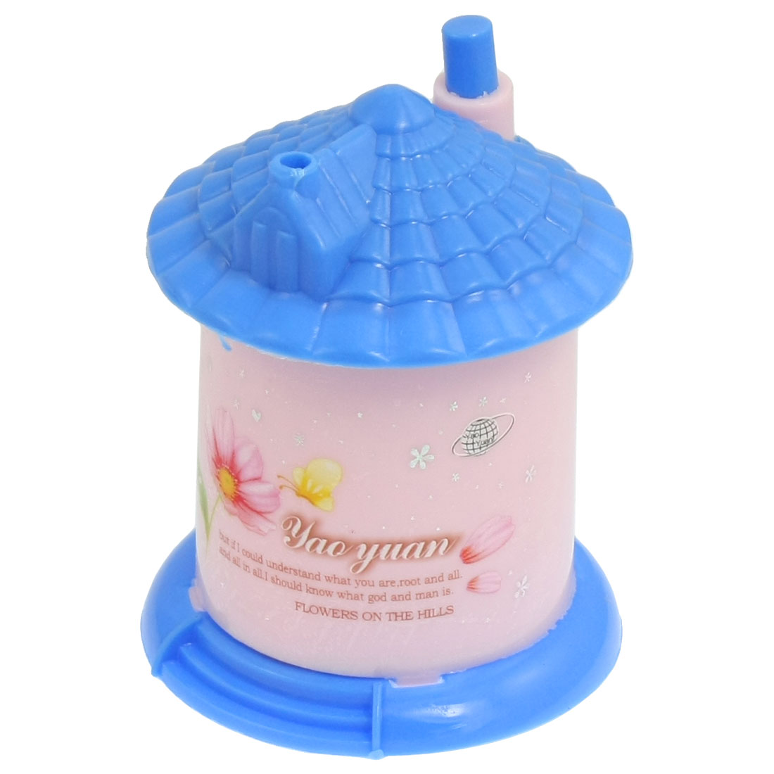 House Shaped Automatic Plastic Toothpick Holder Container Blue Pink