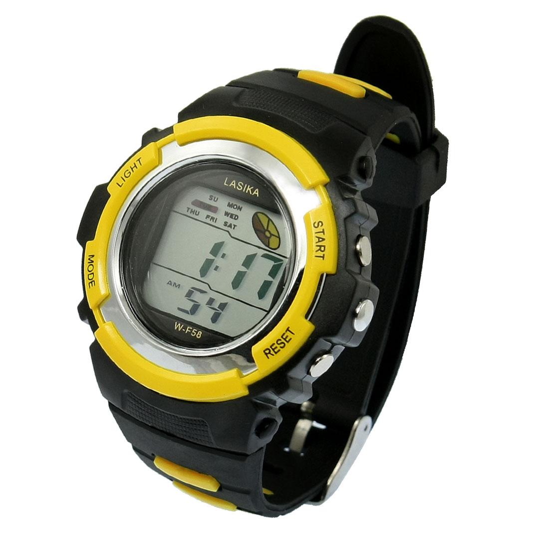 Unisex Date Week Hour Alarm Clock LCD Display Coldlight Digital Watch Stopwatch