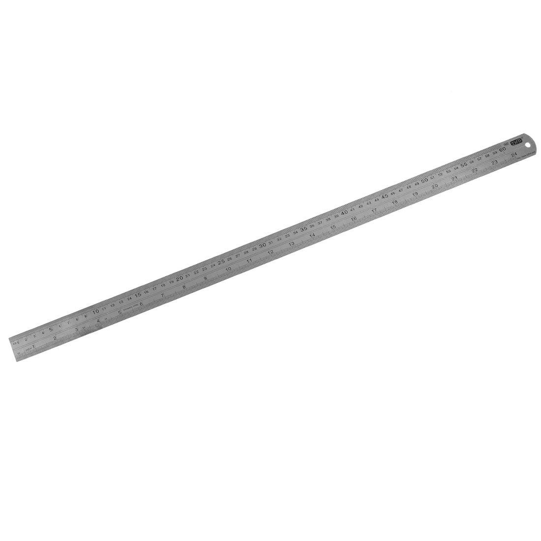 Stainless Steel 60cm 24 Inch Metric Straight Ruler Measuring Tool