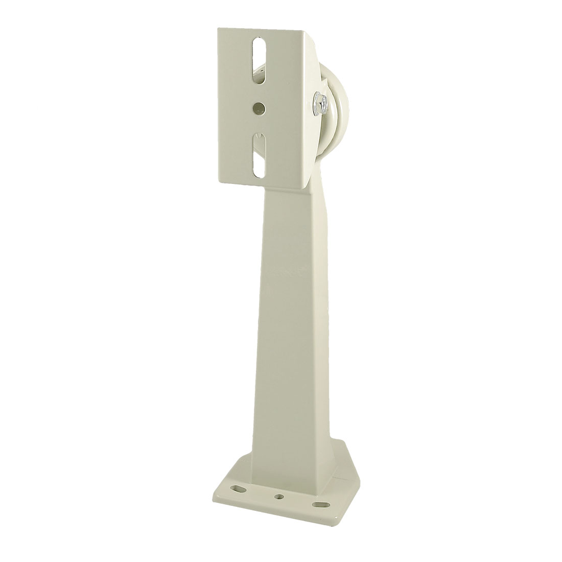 "12"" Height CCTV Camera Wall Mount Stand Off White Metal Bracket Stand"