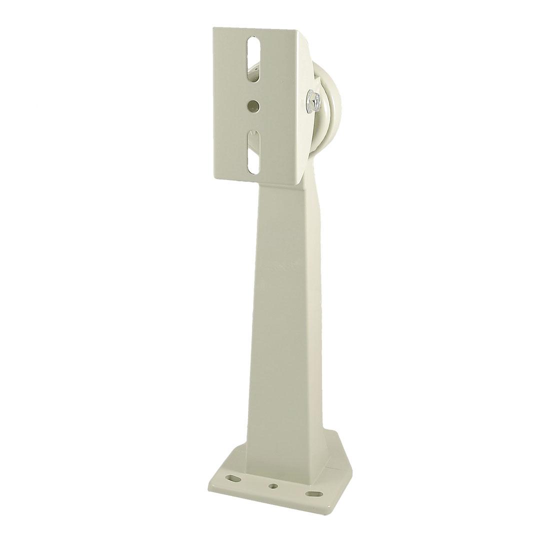 "Metal Wall Mounted Surveillance CCTV Camera Stand Bracket White 12"" Height"