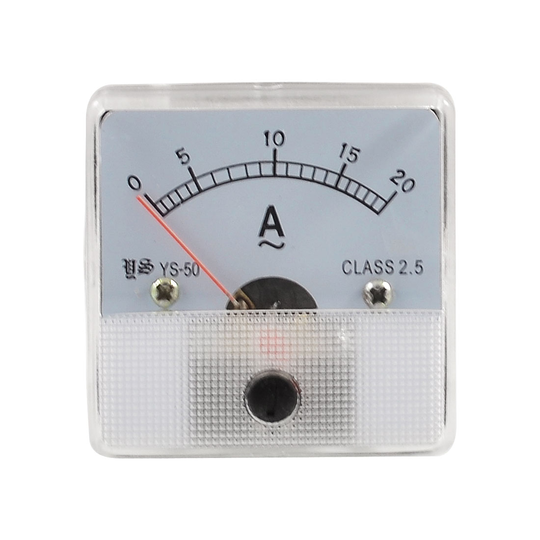 Class 2.5 Accuracy Analog AC 0-20A Scale Ampere Panel Meter Gauge