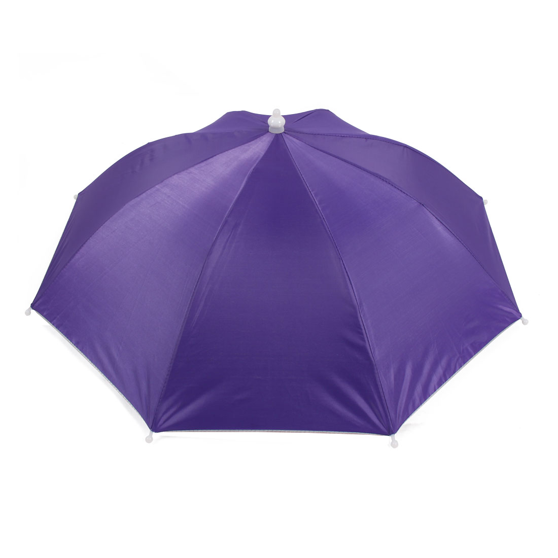 Outdoor Fishing Camping Purple Umbrella Hat Headwear Cap