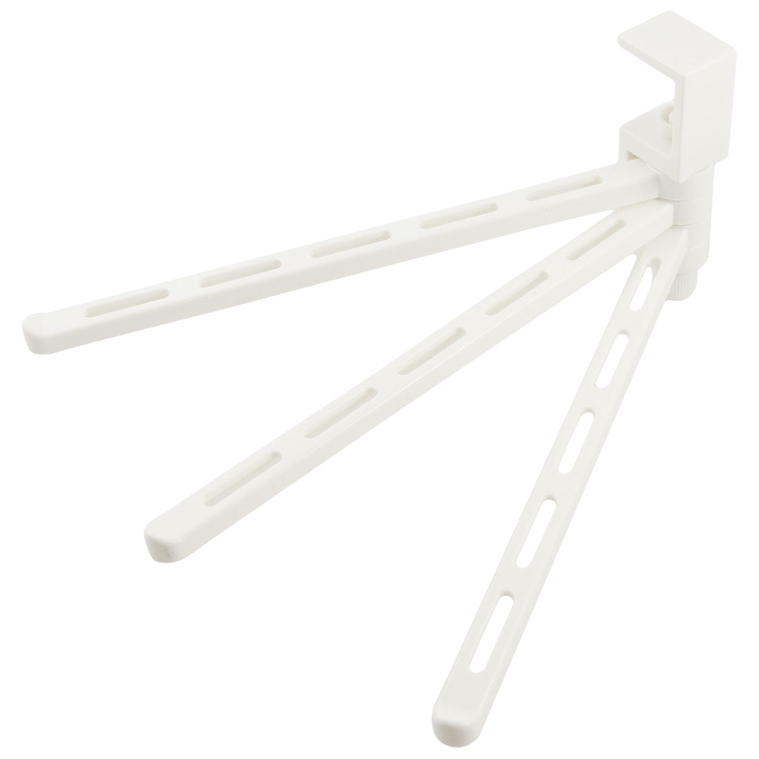 Off White Plastic Clothes Towels Holder Hanging Bracket for Wall Cabinet