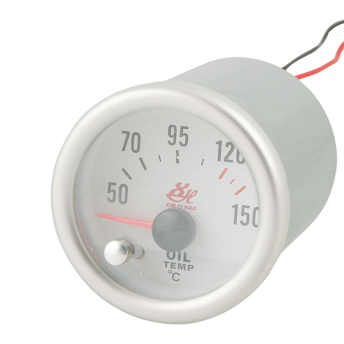 Car 50-150C 52mm Mount Dia Oil Temperature Indicator Gauge