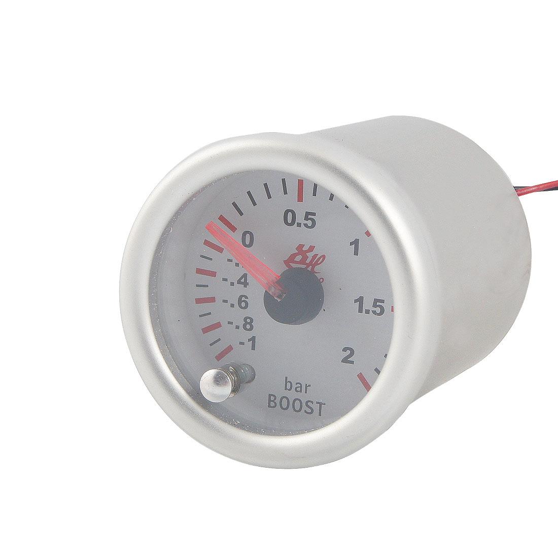 "Car 2"" Diameter Turbo Boost Pointed Indicating Vacuum Gauge"