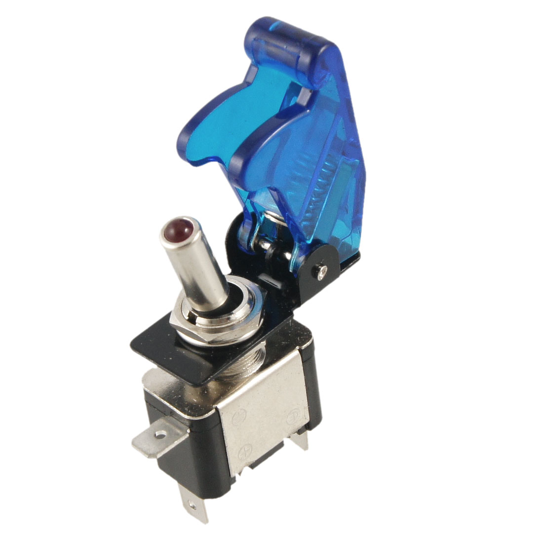 DC 12V 20A On Off Racing Car Illuminated Toggle Switch + Blue Cover