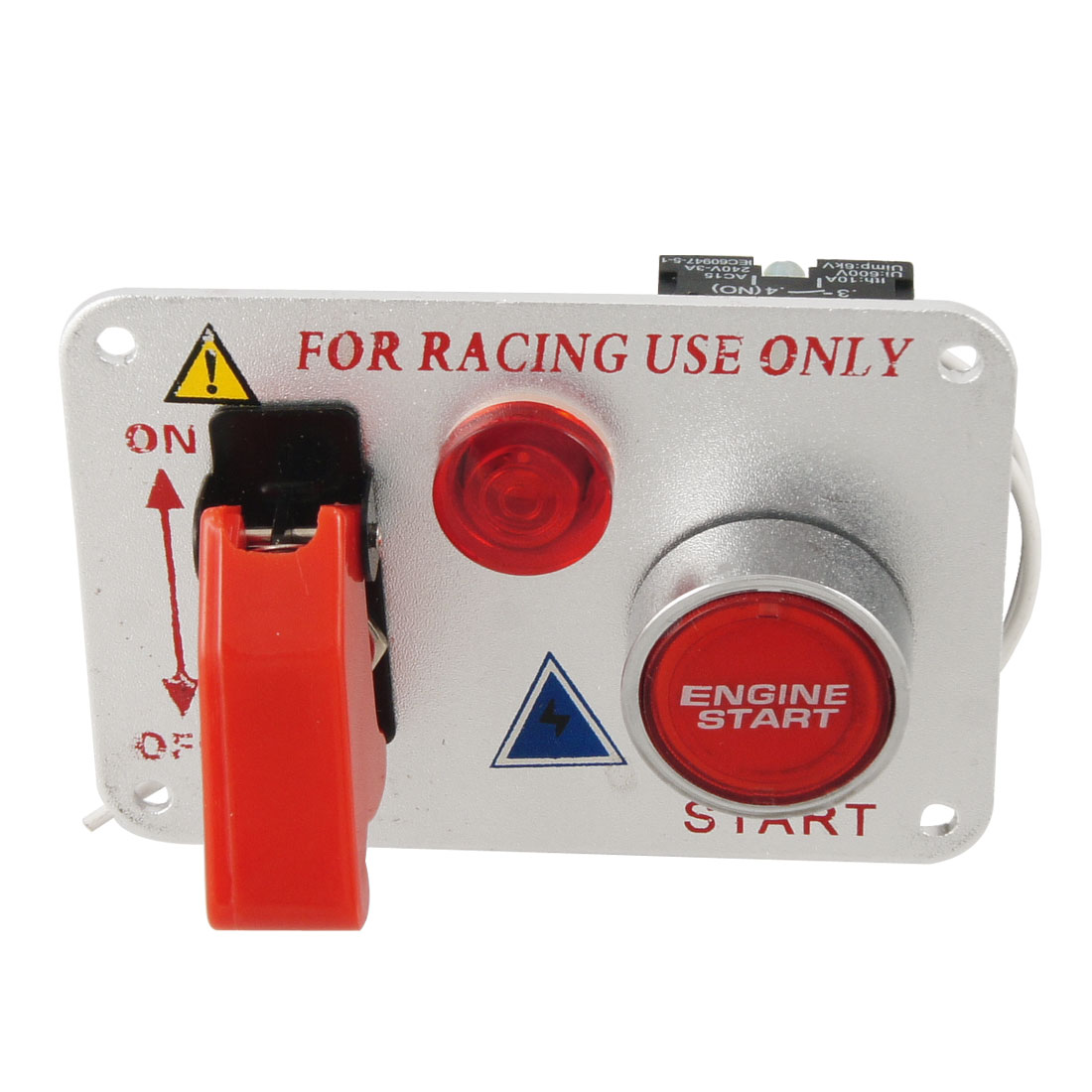 Racing Car 12V Ignition Switch Panel Engine Start Push Button Red LED Toggle