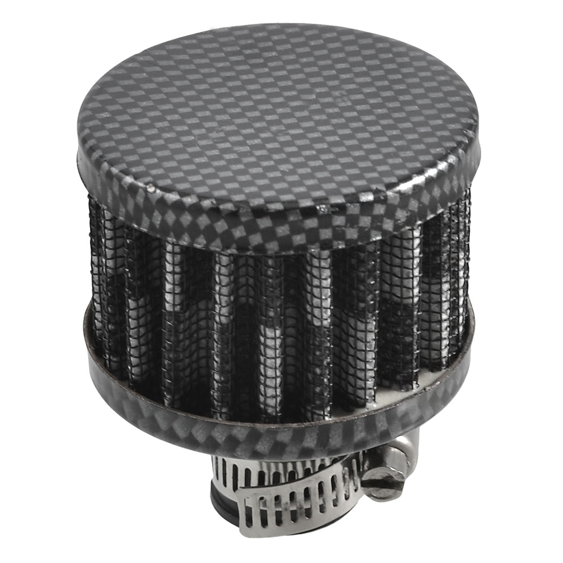 """12mm 0.5"""" Oil Valve Vent Breather Intake Round Air Filter Black Gray"""