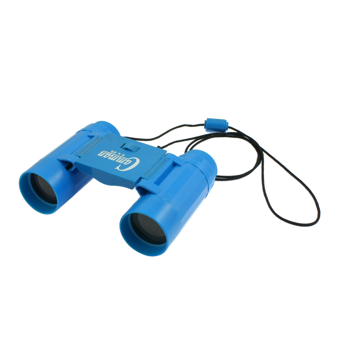 Child Plastic 25mm x 2.5X Foldable Binoculars Telescope Toy Blue