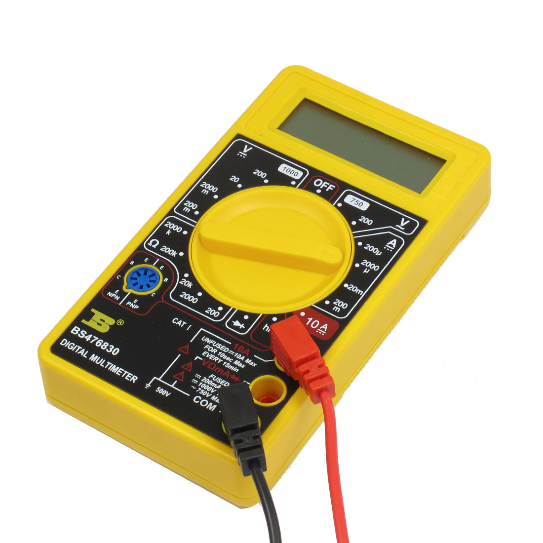 LCD Display DC Current Measuring Ammeter Ohmmeter Digital Multimeter