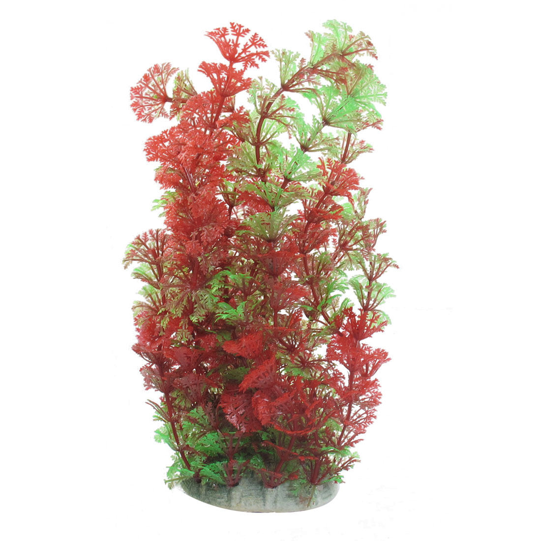 Green Red Small Leaves Manmade Underwater Grass Ornament for Fish Tank