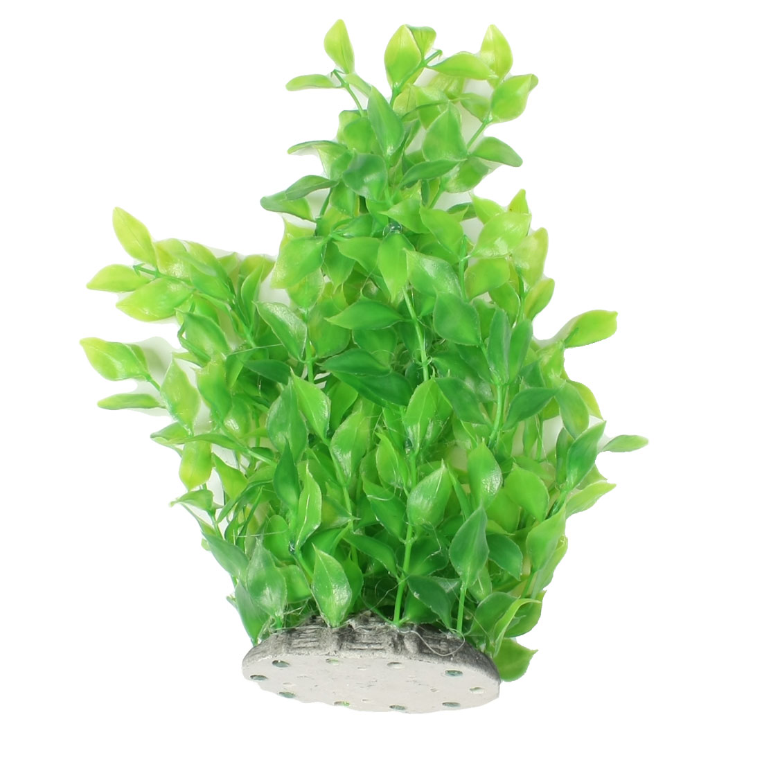 "9.6"" Height Green Plastic Leaf Fish Aquarium Ornament Plant"
