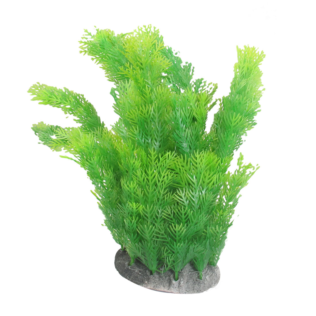 Green Thin Leaves Manmade Underwater Plants Decoration for Fish Tank