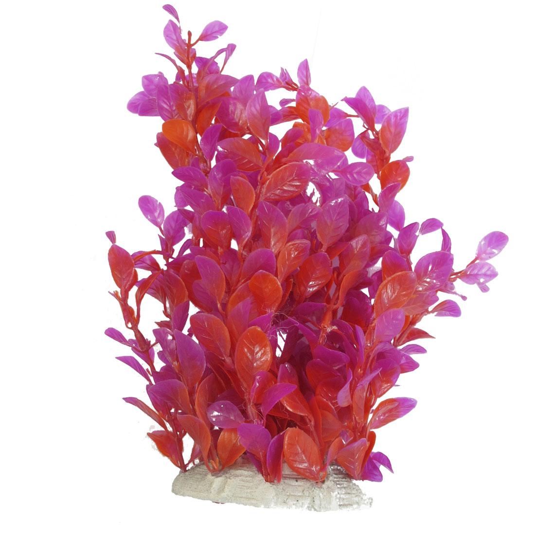 Hot Pink Red Artificial Emulational Aquascaping Grasses for Aquarium