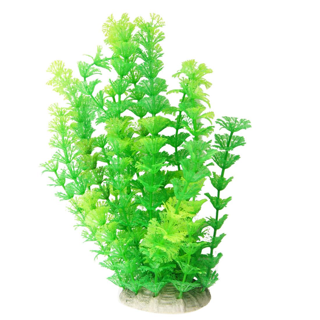 """Green Plastic Plants Ornament 9.4"""" Length for Fish Tank Aquarium"""